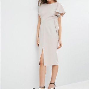Asos design waterfall sleeve pencil midi dress